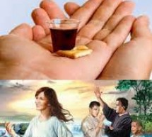 No batismo e na santa ceia